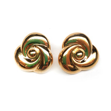 Gold Rose Earring