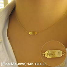 [Fine Mouche] Fragile Name Tag Necklace