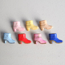 [HeCollection] Vivid Ankle Boots Brooch