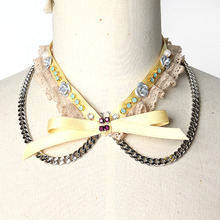 Yellow Ribbon Collar Necklace