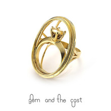 30%SALE[gem and the cast] Frame Ring