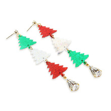 Merry Christmas Tree Earring